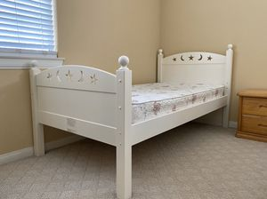 2 TWIN BUNK BEDS + mattresses, ladder, drawers for Sale in Arcadia, CA