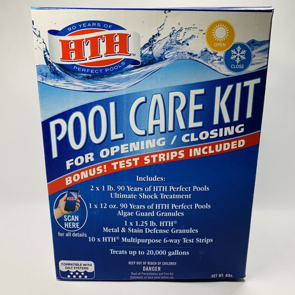 HTH Swimming Pool Opening Closing Care Kit All-in-One Chemical Kit Up to 20k gal