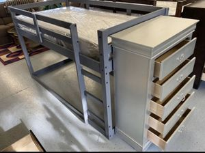 Furniture mattress- twin loft bed frame + mattress for Sale in North Highlands, CA