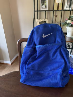 Blue Nike Brasília Mesh Backpack- Great Condition! for Sale in North Olmsted, OH