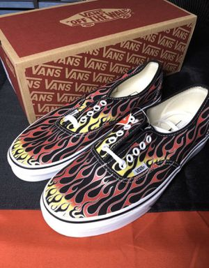 🔥🔥 Flames Vans Men size 6.5 7 7.5 8 8.5 9 10.5 11 Authentic Shoes brand new in the box for Sale in Apple Valley, CA