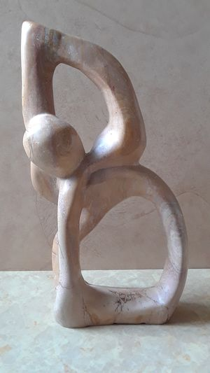 """13"""" Polished Stone Abstract Sculpture, Abstract Art (Heavy) for Sale in Chester, PA"""