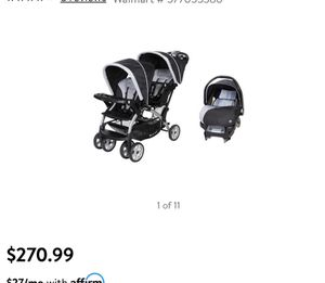 *NEW* BabyTrend double tandem sit and stand stroller & car seat for Sale in Winter Springs, FL