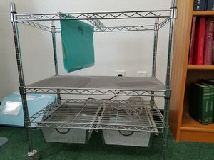 File rack with shelf and 2 drawers for Sale in Las Vegas, NV
