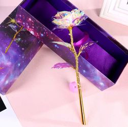 24k Crystal Foil Gift Box Colorful Gold Rose Lasts Forever Decoration For Any Especial Occasion Mothers Day, Girlfriend, Friend And Family for Sale in Downey,  CA