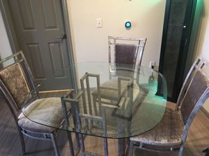 Beautiful kitchen table with four chairs... perfect shape... for Sale in Littleton, CO