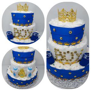 Royal blue diaper cake for Sale in Denver, CO