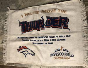 NY Giants/Denver Bronco Souvenir Towel for Sale in Miami, FL