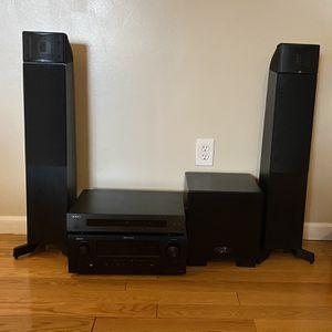 Denon - Martin Logan - Oppo - Home Theatre Surround Sound Bar Audio System with Receiver, Speakers, Subwoofer & BluRay Player Set for Sale in La Presa, CA