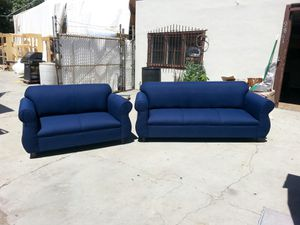 NEW DOMINO NAVY FABRIC COUCHES for Sale in La Mesa, CA