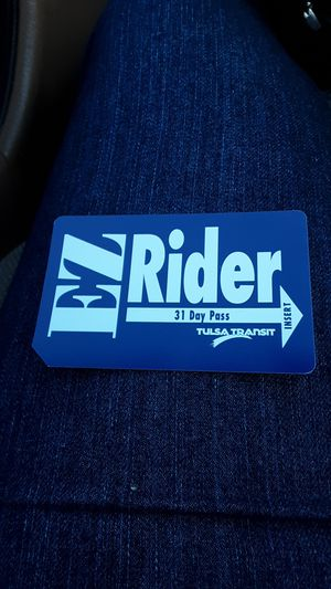 Tulsa transit 31 day pass, new has not been used for Sale in Bixby, OK