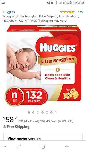 Huggies diapers 1 pack 66 size N for Sale in Auburn, WA