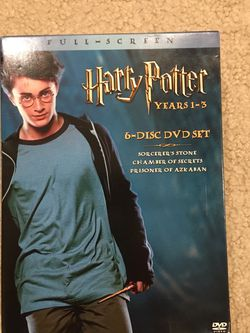 Harry Potter DVDs 6 Disc Set Years 1-3 for Sale in Issaquah,  WA