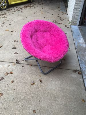 Faux Fur Pink Saucer Chair for Sale in McLean, VA