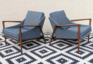 Pair of Mid Century danish lounge chairs for Sale in Atlanta, GA