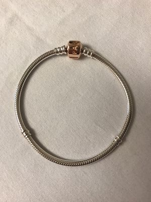 PANDORA Rose Gold Signature Moments Snake Chain Bracelet for Sale in Indian Trail, NC