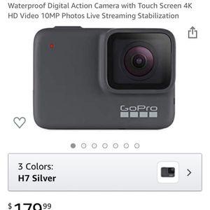 GoPro - HERO7 Silver 4K Waterproof Action Camera - Silver for Sale in Arlington, VA
