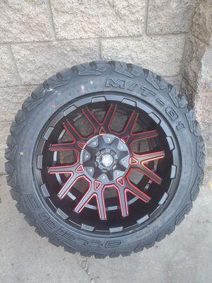 Wheel & Tires 2ox12 5light Chevy, doge,jeeps for Sale in Phoenix, AZ