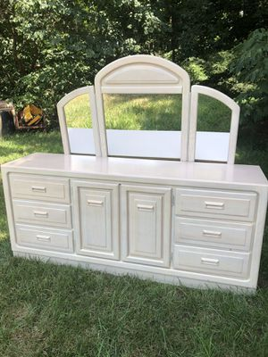 Large Solid Wood Dresser with Mirror for Sale in Charlotte, NC
