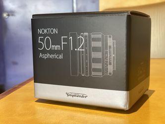 Like new condition Voightlander Norton 50mm f1.2 for Sony E mount for Sale in San Jose,  CA