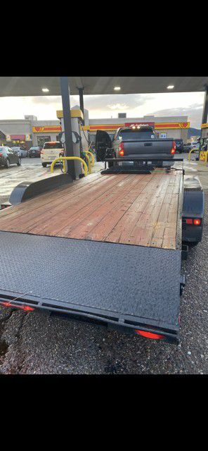 Dual axle dove tail car hauler trailer for Sale in Mesa, AZ