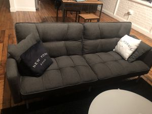 Grey Futon Couch for Sale in Central Falls, RI