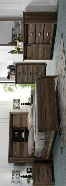 🍃the price is nice🍃Calhoun Brown Bookcase Bedroom Set for Sale in Jessup, MD
