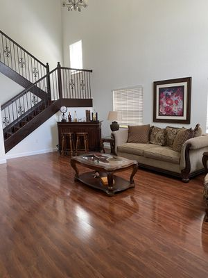 Sofa, Chair, 3 tables & 2 lamps for Sale in Homestead, FL