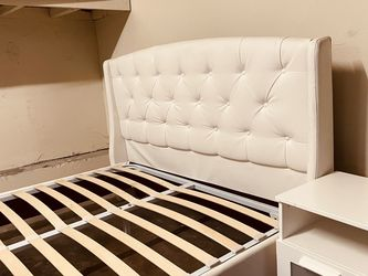 Queen Size Bed Frame With Wooden Slats for Sale in Hawthorne,  CA