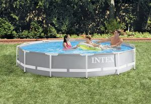 Iintex 12ft x 30in Prism Metal Frame Above Ground Swimming Pool w/ Pump & filter Brand new $430 for Sale in Kent, WA