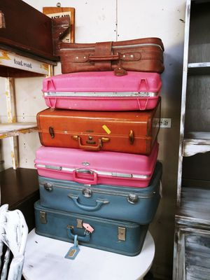 Vintage Luggage Suit Cases 10$ Each! Great for Rustic Decor for Sale in Joliet, IL