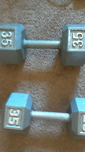 Two 35lbs dumbbells for 35 dollars for Sale in Phoenix, AZ