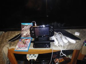 Nintendo Wii U WUP-101(02) 32GB Black Console, Gamepad, Remotes/Nunchucks, Games for Sale in Heath, OH