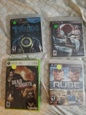 3 PS3 and 1 xbox 360 games brand new for Sale in San Diego, CA