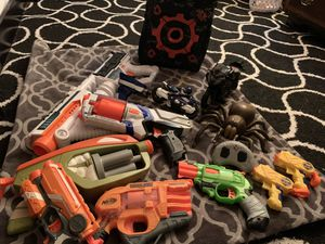 Nerf guns, nerf dart storage bag and target, remote controlled spider and motorcycles for Sale in NM, US