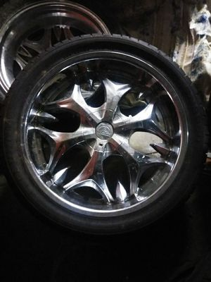 """Set of 4- 22"""" Performance Tires on Chrome Rims for Sale in San Francisco, CA"""