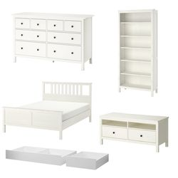IKEA Hemnes Set White Stain - Bed Framw Dresser Bookcase TV Stand Underbed Storage for Sale in Brooklyn,  NY