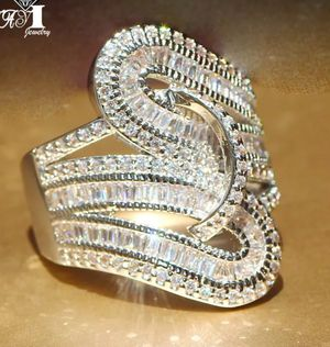 $14 new size 9 silver plated CZ ring for Sale in Ballwin, MO