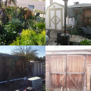 3 differnt sheds garden tools and exotic garden for sale for Sale in El Cajon, CA