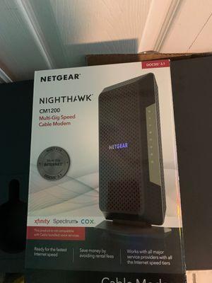 NETGEAR - Nighthawk 32 x 8 DOCSIS 3.1 Cable Modem - Black for Sale in Orlando, FL