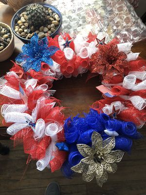 4 July wreaths or centerpiece combo for Sale in Oklahoma City, OK