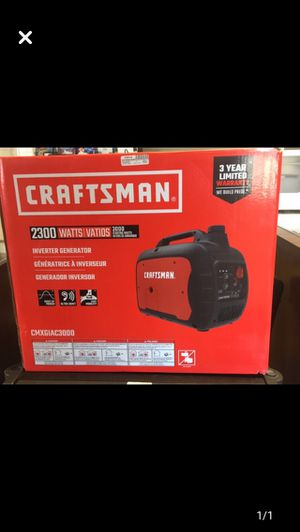 Craftsman 2300 watts invertir/generator for Sale in Charlottesville, VA