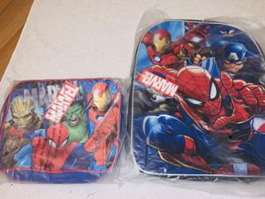 Marvel boys bookbag with lunch bag for Sale in Cleveland, OH