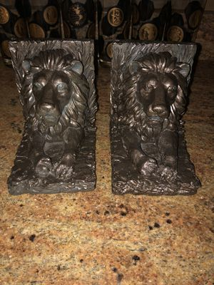 """HEAVY VINTAGE 3.5 lb. LION BOOKENDS 4""""x5""""x6"""" for Sale in Bolingbrook, IL"""