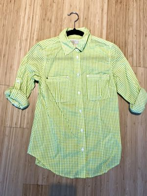 New Women's Michael Kors Plaid Button Down. Size XS. Original price $130. for Sale in New York, NY