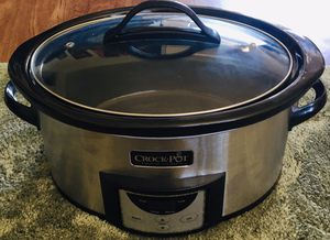 Crock-Pot SCCPVI600-S 6-Quart Programmable Slow Cooker, Stainless Steel for Sale in Westminster, CA
