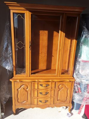 China cabinet 3 shelves , 2 side doors and shelf inside. 3 drawers on front for Sale in Austin, TX