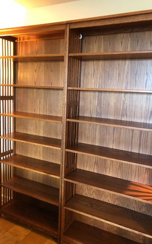 Mission-style 7' bookcases. for Sale in Silver Spring, MD