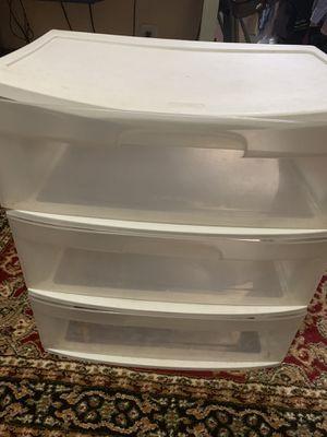 Sterilite plastic three drawer organizer for Sale in East Brunswick, NJ