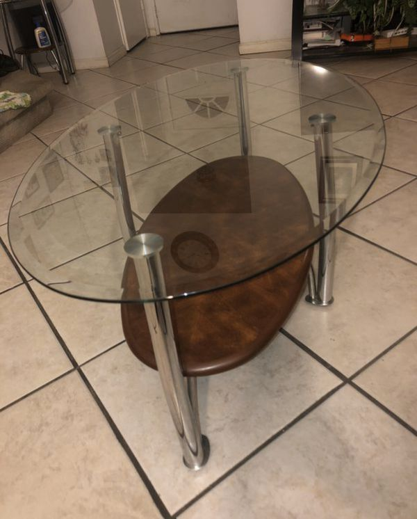 Glass Center Coffee Table